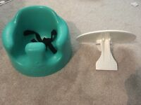 Bumbo with harness and tray
