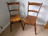 Old wooden kid / small adult chairs - good upcyling project