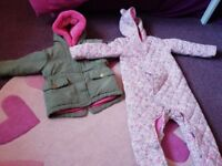 2 lovely girls coats in emaculate condition age 12-18 months