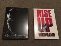 Game of Thrones Season 7 and Walking Dead Season 7 DVDs