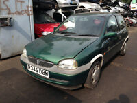 1997 Vauxhall Corsa B 1.2 Breeze 3dr green manual 369 65 BREAKING FOR SPARES