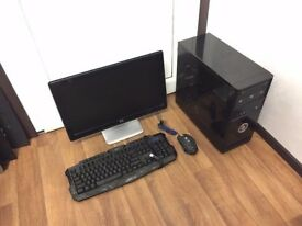 Gaming Computer PC, Complete Setup with Monitor, Gaming Mouse and Keyboard