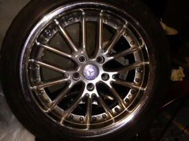 RS JK5 17inch Alloys and tyres x 4 As New Condition 5x110