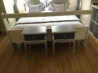 Stag vintage silver and grey bedside table's