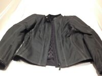 Frank Thomas Black Leather Ladies Motorbike Jacket 14