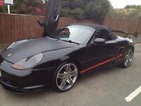 "£6199 ONLY! Porsche Boxter S 3.2L Petrol,Manual,58K miles,Lamborghini doors,Convertible ,18"" Alloy"