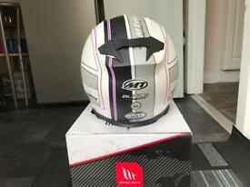 mt motorcycle helmet, size small.