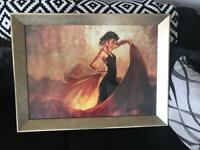 Spanish Dancer Picture and Frame