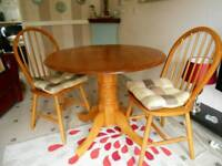 Julian Bowen Table and 2 Chairs