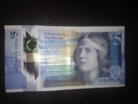 Plastic fiver with AB and fish