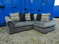Stunning Grey Fabric Corner Sofa *Good Clean Condition,Delivery Available*