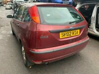FORD FOCUS 2002 RED 1.6 PETROL 5DR - breaking