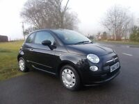 2013 62 FIAT 500 POP 1.2 3 DOOR MET BLACK 19000 MILES FSH
