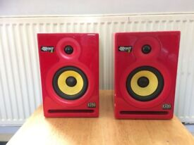 KRK ROCKET POWERD 5 MONITOR SPEAKERS LIMITED EDITION £ 125 POUND