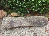 Granite gatepost