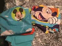 Mickey Mouse quilt cover and a pair of curtains
