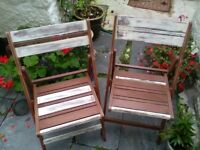 NICE PRACTICAL FOLDING WOODEN CHAIRS