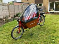 Bakfiets Classic Short Steps Electric Cargo Bike with upgrades - Excellent Condition