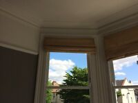 Four Roman Blinds and fixings