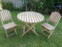 Wooden garden set .