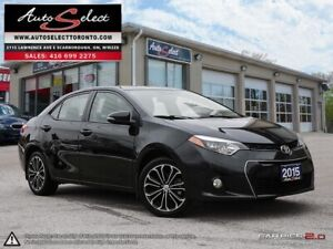"""2015 Toyota Corolla """"S"""" MODEL ONLY 71K! **NAVIGATION/LEATHER/..."""