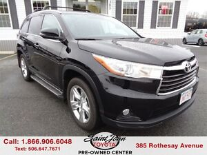 2015 Toyota Highlander Limited $316.52 BI WEEKLY!!!