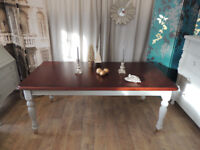 Victorian style shabby chic large dining table for 6 -8 person