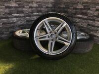 18 '' Genuine Audi A5 A6 C7 Twin Spoke 8W S Line Alloy Wheels Tyres Alloys VW Caddy