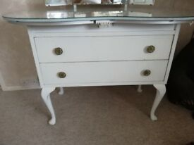 mirrored queen ann style dressing table