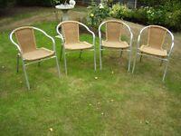 Aluminium-rattan Chairs