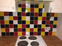 Colour ceramic kitchen tiles
