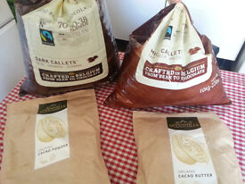 Callebaut Dark and Milk Chocolate Chips, Cocoa Butter and Powder for baking, cooking, fountains