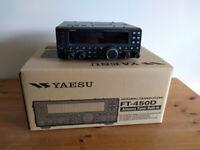 YAESU FT-450D 100w HF/6m transceiver with ATU (YAESU FT 450D 450) for sale  Basingstoke, Hampshire
