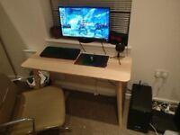Gaming PC Set Up GTX1080, 16GB Ram, 2TB HDD, 250GB SSD, 27 inch Monitor 1440p
