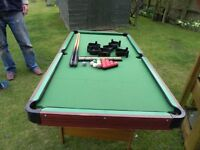 Small snooker table suitable for children