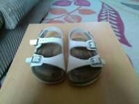Kids white birkenstock sandels size 8