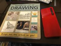 Drawing course book and sketching pencil sets