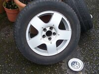 VW Golf Mk4 Alloy Wheel with good 195.65.15 Event tyre