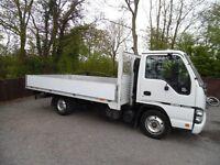 isuzu truck NKR 77 turbo electric di dropside lorry 13ft 2007 07 plate NO VAT