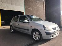 2002 RENAULT CLIO WITH ALLOY WHEELS, SERVICE HISTORY IMMACULATE CAR!!