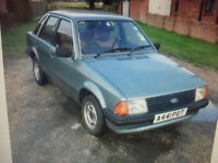 CLASSIC FORD ESCORT 1.3 GL 38.000 MILES FULL SERVICE HISTORY 1 LADY OWNER FROM NEW 10 MONTHS MOT
