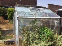 Free Greenhouse - 6x8ft aluminium frame, no broken glass
