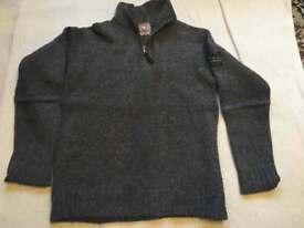 Men's wool jumper dark grey Sz L used £4