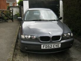 BMW 316 Just over 100,000 miles, MOT until 22 Oct 2018, nothing major on advisory .
