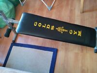 Sit up exercise bench golds gym ab board