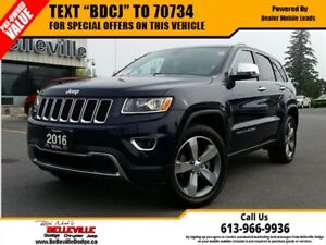 2016 Jeep Grand Cherokee Limited-Sunroof-Remote Control