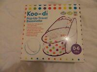 Fantastic Baby Koo-di Pop-Up Travel Basinette Cot boxed Like New £10!!