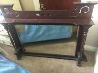 A beautifull original antique over mantle mirror