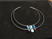 Murano glass sterling silver choker