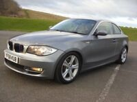BMW 123d SE COUPE TWIN TURBO DIESEL,LATE 58 PLATE,83K WITH FMDSH,220+BHP,BEAUTIFUL WELL KEPT EXAMPLE